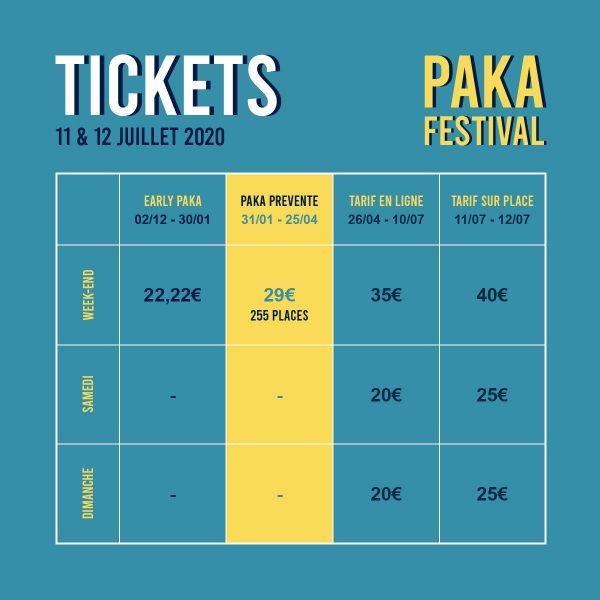 billetterie paka festival 2020